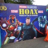 Superhero Avengers Hadir di Pospam Polres Malang Kota, Seperti Apa Ya?