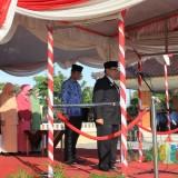 Bupati Blitar memimpin upacara Harlah Pancasila di Alun-Alun Kanigoro.(Foto : Team BlitarTIMES)