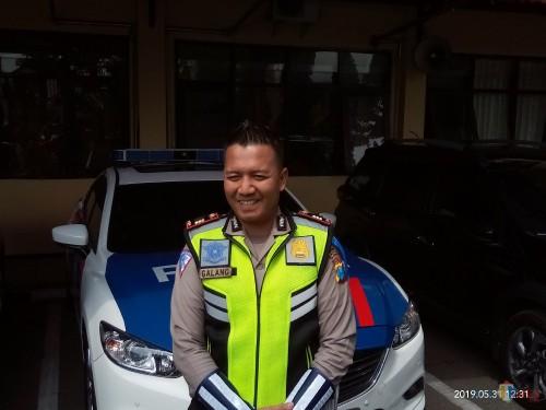 Kasatlantas Polres Malang Kota, AKP Ari Galang Saputro (foto: Anggara Sudiongko/MalangTIMES)