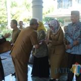 Acara halal bihalal di Pemkab Lumajang (Foto : Moch. R. Abdul Fatah / Jatim TIMES)
