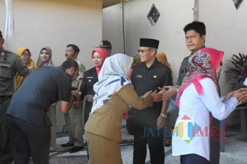 Bupati Kediri Hj Haryanti Sutrisno menggelar Halal bihalal di Lingkungan Pemkab Kediri. (ist)