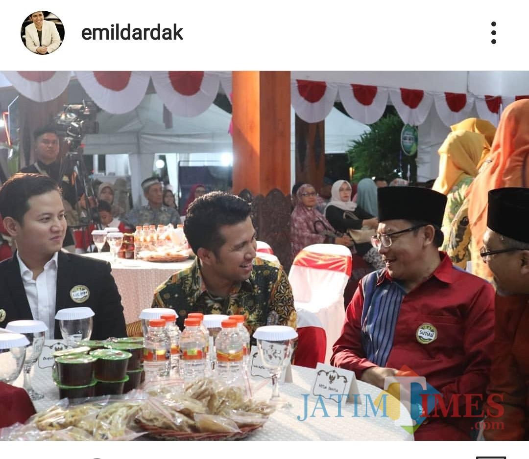 Tangkapan layar unggahan Wagub Jatim Emil E. Dardak di akun Instagramnya. (Foto: Dokumen MalangTIMES)