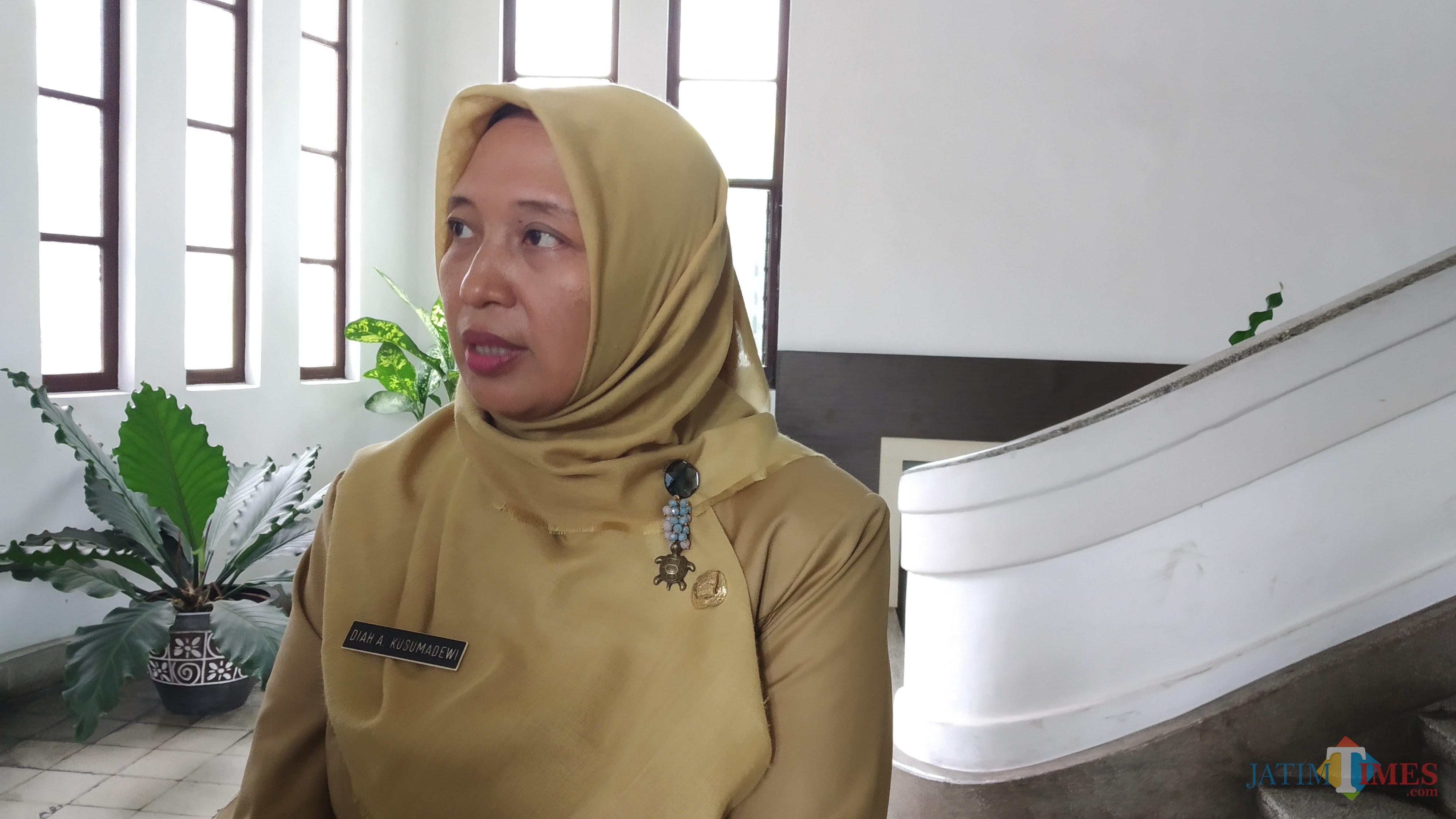 Plt Kepala Dinas Lingkungan Hidup Kota Malang, Diah Ayu Kusumadewi (Pipit Anggraeni/MalangTIMES).