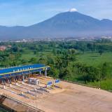 Suasana gerbang Tol Malang-Pandaan di Singosari, Kabupaten Malang. (Foto: Setneg RI)
