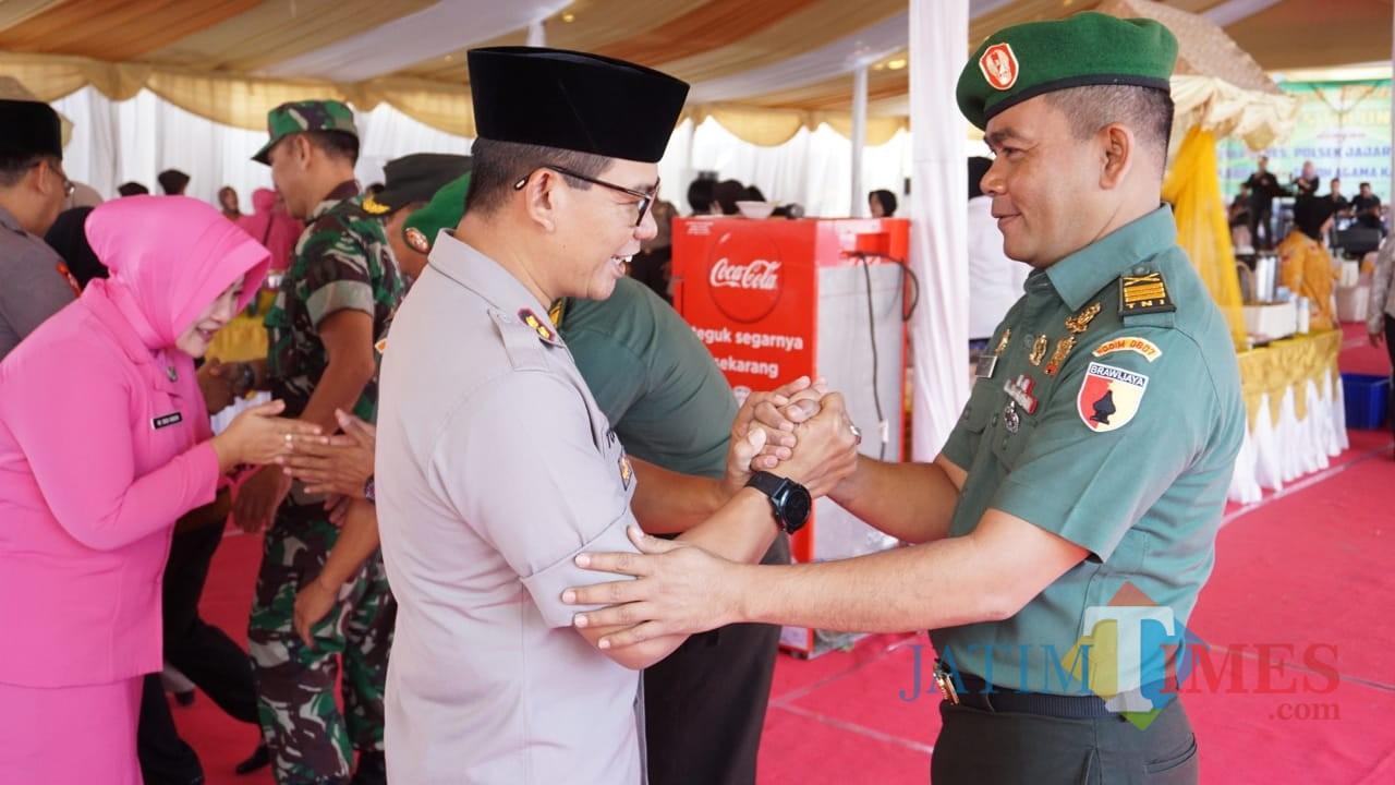 Suasana halal bihalal di Mapolres Tulungagung / Foto : Dokpol /Tulungagung TIMES