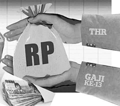 Ilustrasi pencairan gaji 13 ASN setelah THR dibayarkan (Ist)
