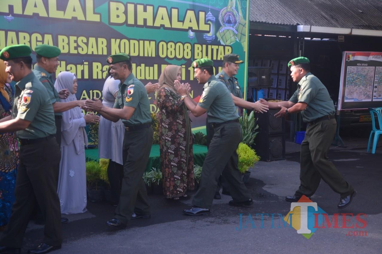 Halal bihalal digelar Kodim 0808/Blitar.(Foto : Aunur Rofiq/BlitarTIMES)