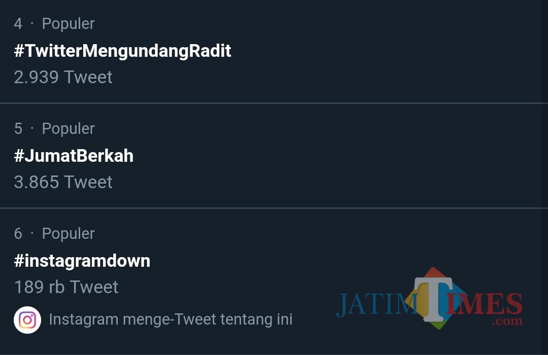 Tagar Twitter yang lagi trending di saat sidang PHPU Pilpres 2019 di MK (Sreenshot trend Twitter)