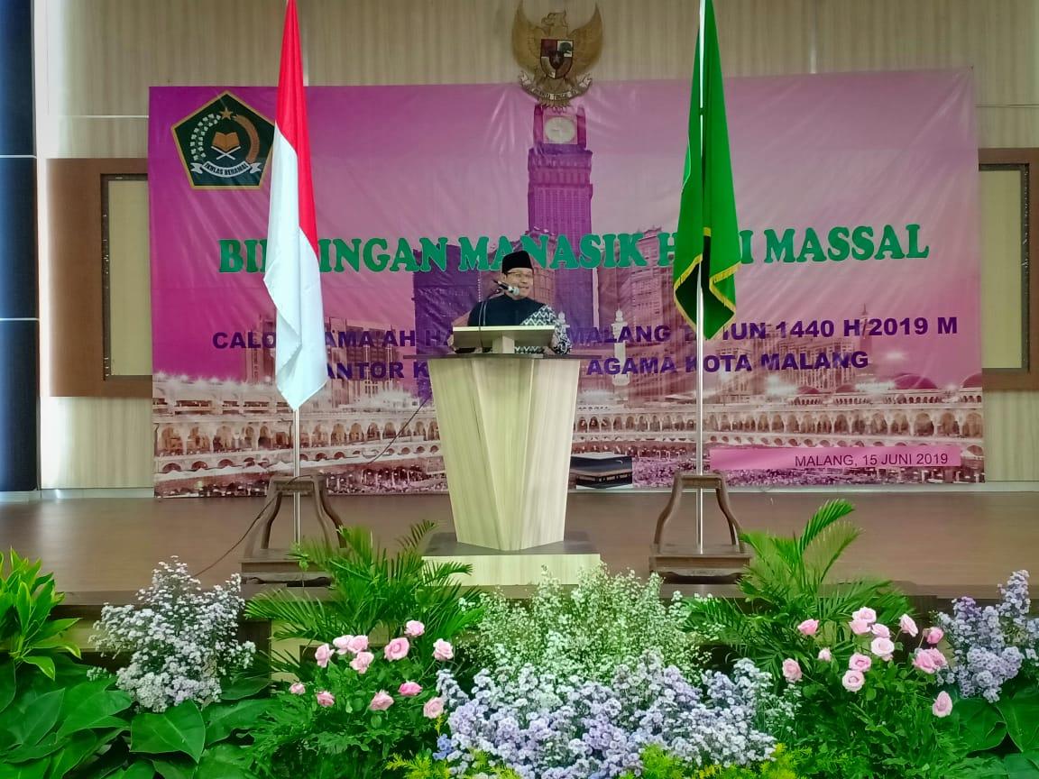 Wali Kota Malang Sutiaji saat membuka pelatihan Manasik Haji oleh Kemenag Kota Malang (Humas Pemkot Malang for MalangTIMES)