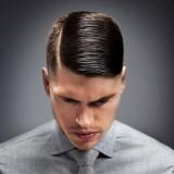 Ilustrasi gaya rambut belah kanan (Ist)