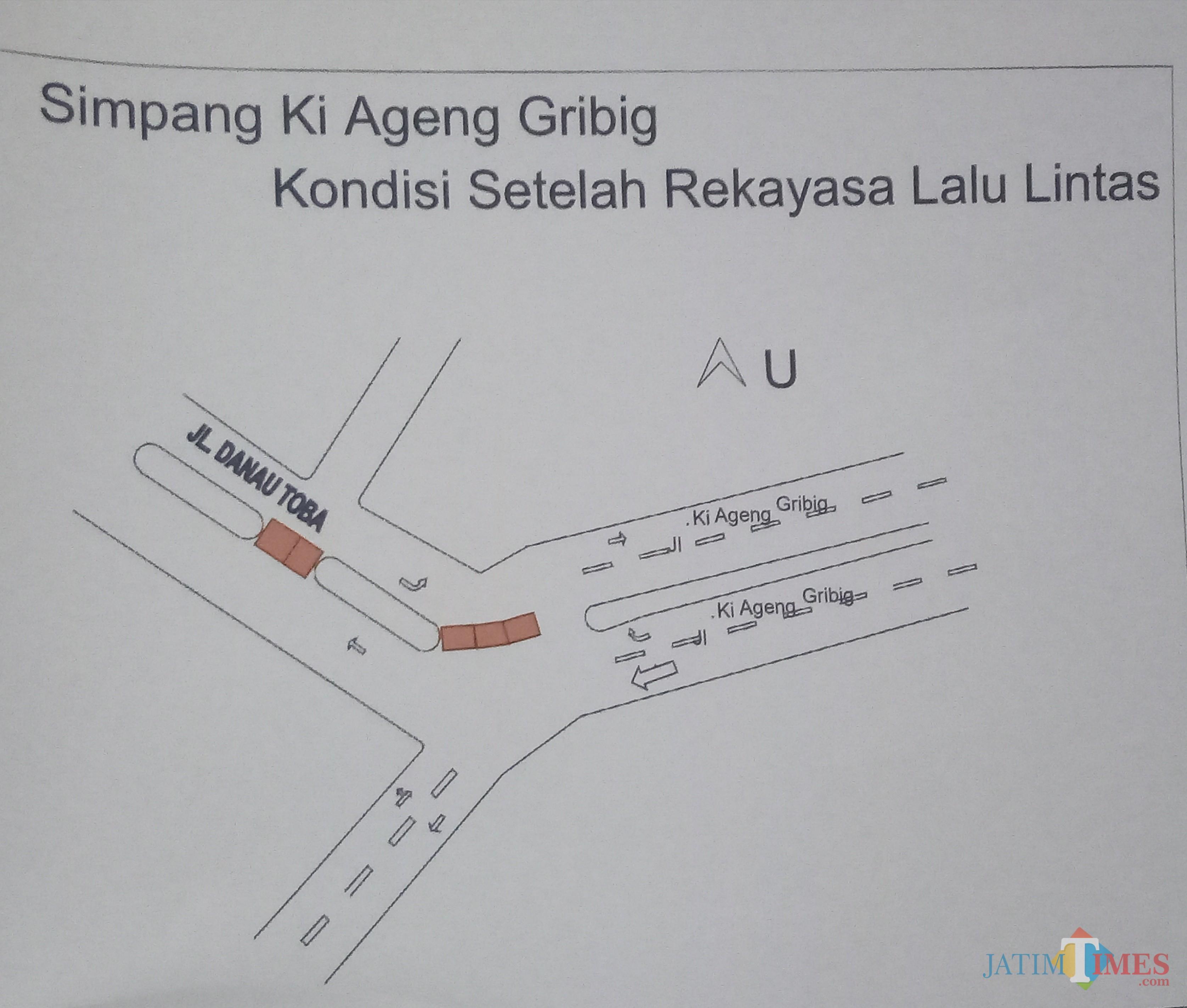 Lokasi yang akan dilakukan penutupan jalan dan akan dibangun RTH (Anggara Sudiongko/MalangTIMES)