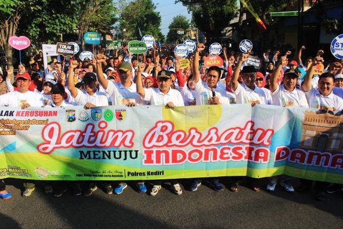 Jatim Bersatu Menuju Indonesia Damai. (Istimewa)