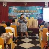 Maulina Pia Wulandari saat mengisi pelatihan tata kelola destinasi pariwisata. (Foto : Istimewa)