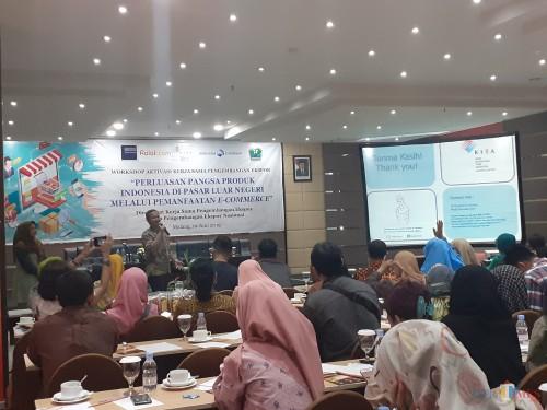 Suasana workshop Aktivasi Kerjasama Pengembangan Ekspor bersama para pelaku usaha UMKM di Kota Malang (Arifina Cahyanti Firdausi/MalangTIMES)