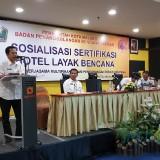 Kegiatan sosialisasi hotel layak bencana oleh BPBD Kota Malang. (Foto: Dokumen MalangTIMES)