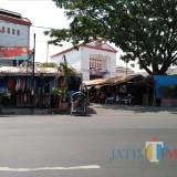 Kondisi Pasar Legi pasca kebakaran.(Foto : Team BlitarTIMES)