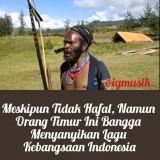 Screenshot sang kepala suku Papua menyanyikan lagu nasional