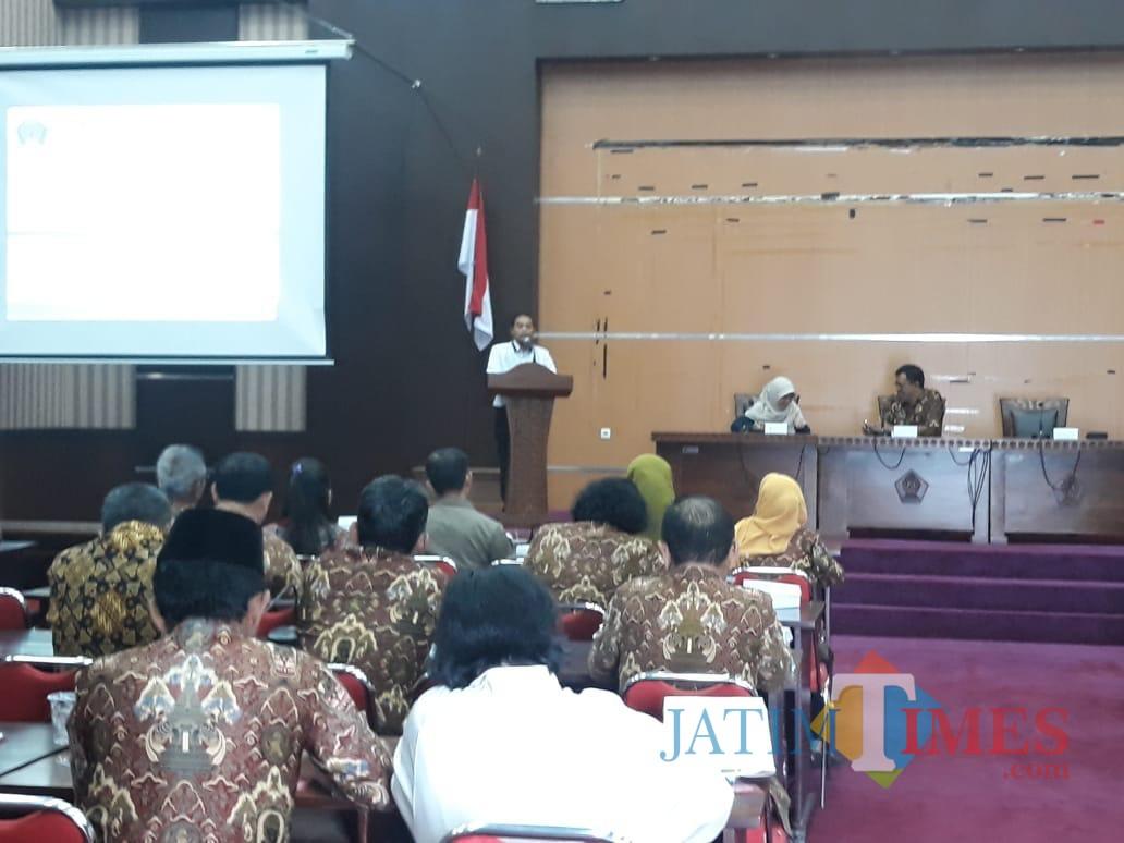 Sosialisasi BPJS Ketenagakerjaan yang digelar Disnaker Pemkab Blitar(Foto : Team BlitarTIMES)