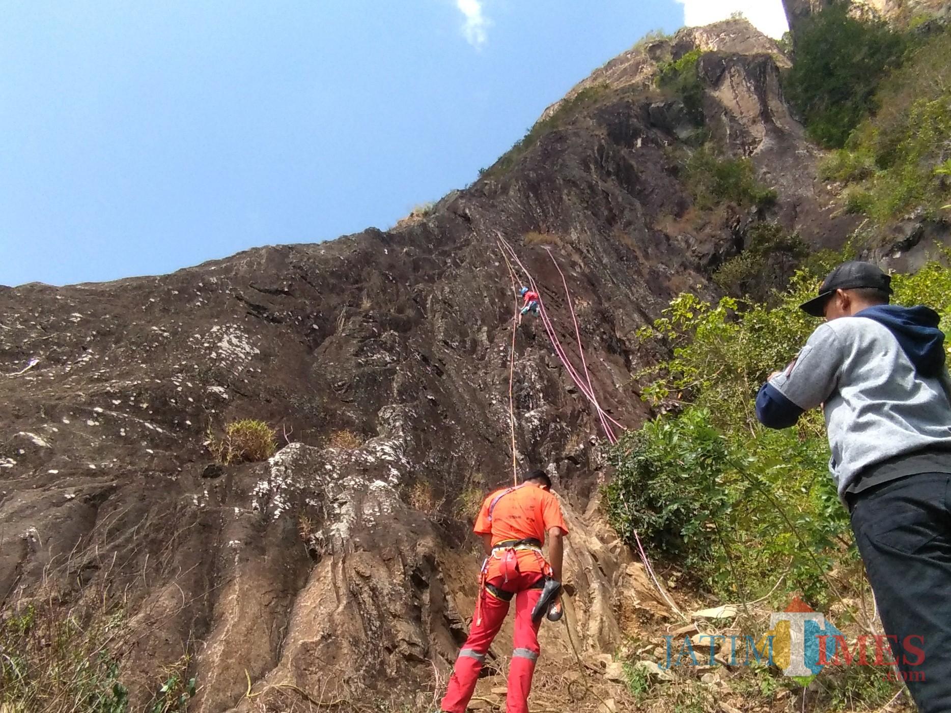 Peserta mencoba rute ICF Tebing Sepikul