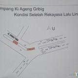 Lokasi persimpangan Jalan Ki Ageng Gribik yang direkayasa (Anggara Sudiongko/MalangTIMES)
