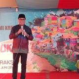 Wakil Wali Kota Malang Sofyan Edi Jarwoko saat membuka Festival Buk Gluduk, Minggu (23/6/2019) (Pipit Anggraeni/MalangTIMES).