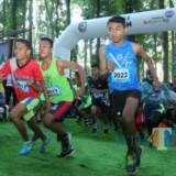 Para peserta Plantation Run 2019 saat beraksi.