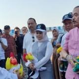 Gubernur Jatim Khofifah ketika sidak ke Stadion Lamongan