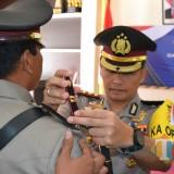 Kapolres Batu AKBP Budi Hermanto saat melakukan sertijab di Polres Batu,�Senin (24/6/2019). (Foto: istimewa)