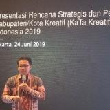 Wali Kota Malang Sutiaji saat melakukan pemaparan dihadapan Badam Ekonomi Kreatif (Bekraf) (Humas Pemkot Malang for MalangTIMES).