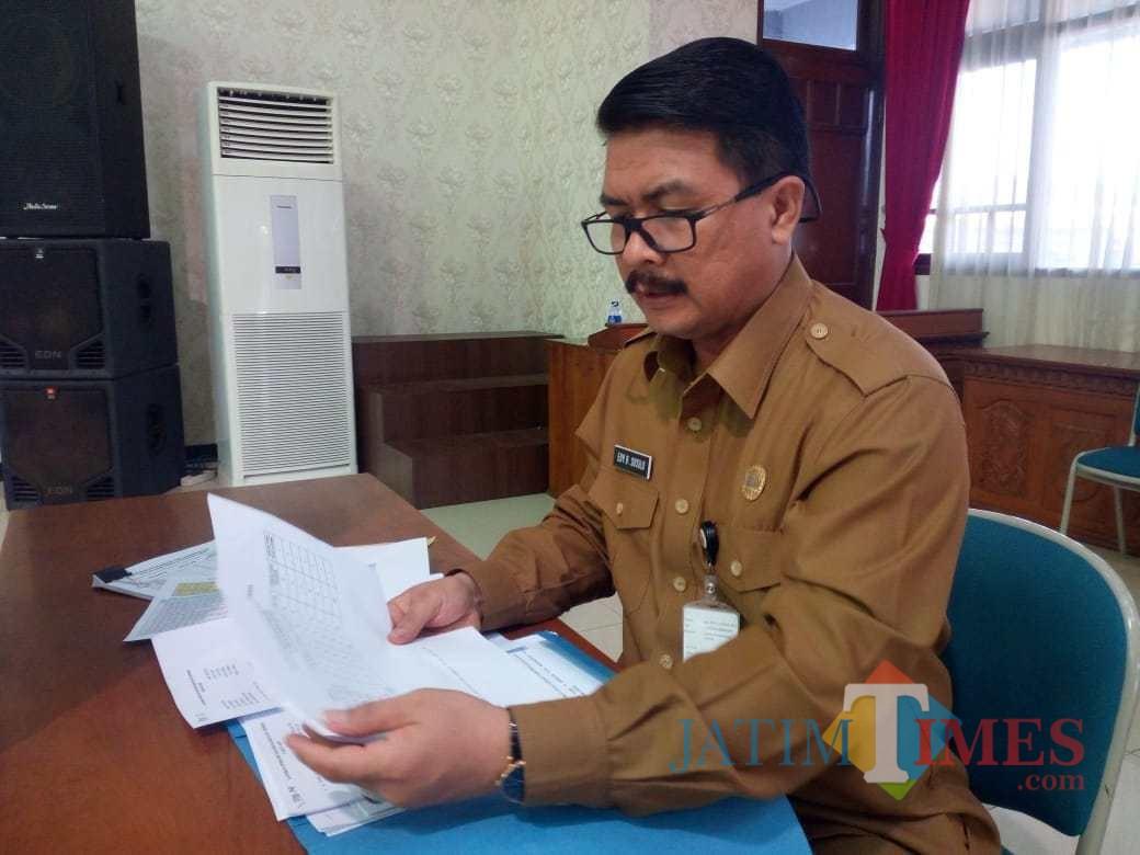 Kadispendik Pemkab Jember Dr. Edy Budi Susilo M.Si (foto : Moh. Ali Makrus / Jatim TIMES)