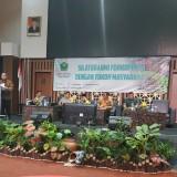 Kepala Bakesbangpol Kota Malang Zulkifli Amrizal saat memberikan sambutan. (Hendra Saputra)