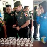 Suasana pelaksanaan Sosialisasi P4GN dan tes urine yang digelar Kodim 0809 Kediri bersama BNN Kabupaten Kediri (Foto: Bambang Setioko/JatimTIMES)