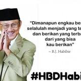 Quote Habibie yang dibuat oleh wargner di twitter. (Foto: istimewa)