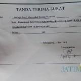 Tanda terima surat yang dikirim LSM Bintara ke SMP Negeri 1 Kedungwaru / Foto : Istimewa / Tulungagung TIMES