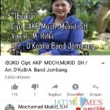 Tangkapan layar akun YouTube yang berisi videoklip lagu Ibuku ciptaan Kasat Reskoba Jombang AKP Mukid. (Foto : Adi Rosul / JombangTIMES)