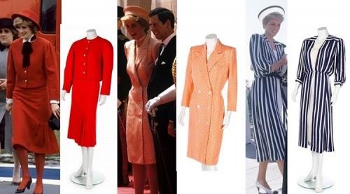 Tiga gaun milik Putri Diana yang dilelang. (Foto: Instagram @kerrytaylorauction)