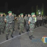 Apel siaga TNI-Polri di halaman depan Mapolres Situbondo. (Foto Heru Hartanto / Situbondo TIMES)