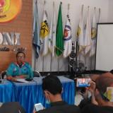 Ketua KONI Kota Batu Mahfud saat�jumpa pers yang diselenggarakan di kantor KONI Kota Batu, Jl Sultan Agung Nomor 8, Kamis (27/6/2019).