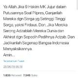Doakan Hakim MK, Warganet Malah Kecam Tengku Zulkarnain