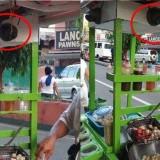 Tak Ingin Dicurangi, Penjual Gorengan Ini Pasang CCTV di Gerobaknya