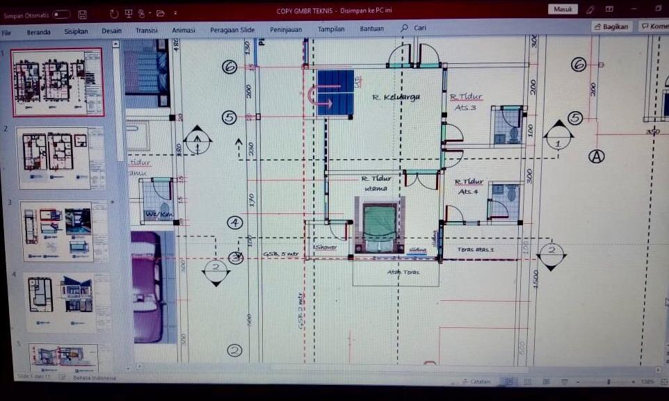Jadi Viral Seorang Ayah Desain Rumah Gunakan Ms Excel Dan Power Point Begini Hasilnya Malangtimes