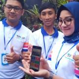 Aplikasi Amin yang ditunjukan saat workshop disalah satu karaoke ternama di Malang (Anggara Sudiongko/MalangTimes)