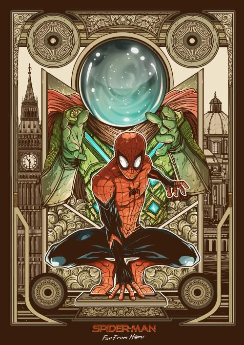 "Fan art karya Kresna Adhitya Zulkarnaen yang menang kontes fan art ""Spider-Man: Far From Home"". (Foto: istimewa)"