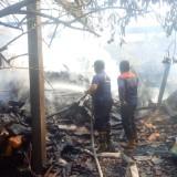 Petugas PMK atasi kebakaran kandang sapi di Bendiljet Karangtalun/ Foto : Istimewa / Tulungagung TIMES