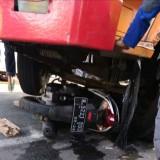 Kondisi motor korban yang berada dibawah kolong truk (Ist)