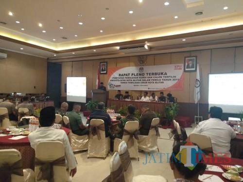 Rapat Pleno penetapan pemilu digelar KPU Kota Blitar hari ini.(Foto : Team BlitarTIMES)