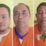 Tiga tersangka judi remi yang diamankan Reskrim Polsek Kota Banyuwangi