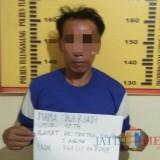 Dwi Riadi Tersangka Pencurian dan pemberatan / Foto : Dokpol / Tulungagung TIMES