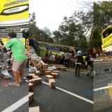 Kondisi kecelakaan maut yang melibatkan 6 kendaraan (Foto Heru Hartanto / SitubondoTIMES)