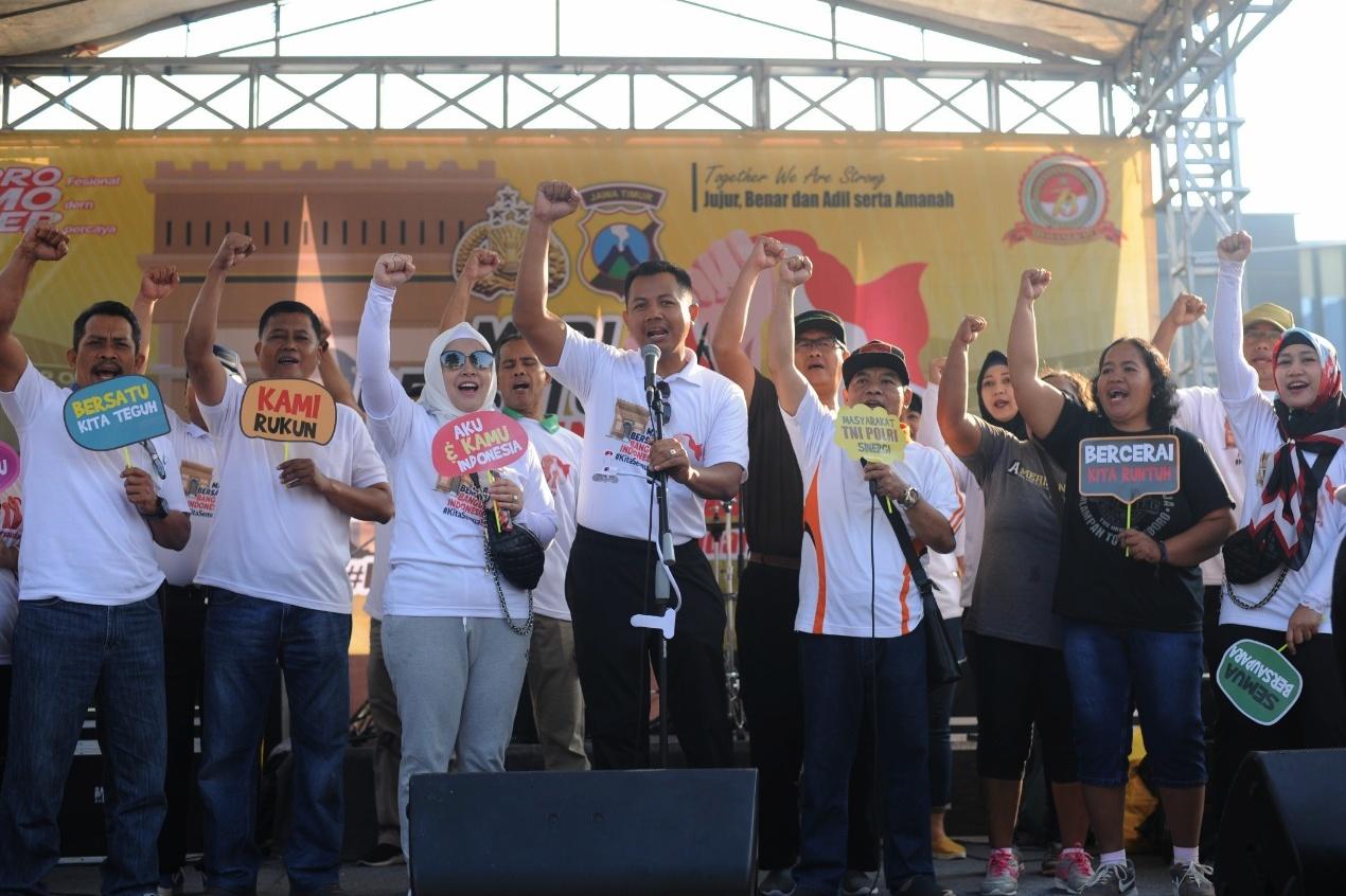 Masyakat Kabupaten Kediri Gelar Deklarasi Bersatu Membangun Indonesia Menuju Indonesia Damai Dan Sejahtera. Foto: (Ist)